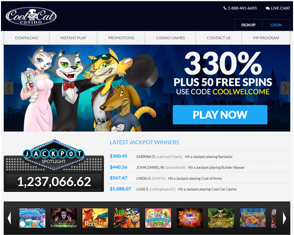 Cool Cat Android casino bonuses