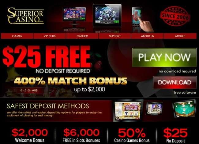 Bonuses and Promotions Superior Casino