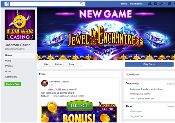 Cashman casino Facebook play