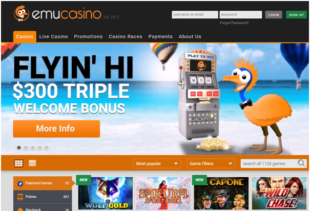 Emu online casino for Android