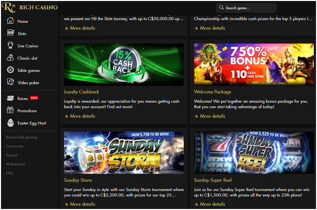 Five Android Cashback casinos in Australia- Rich Casino