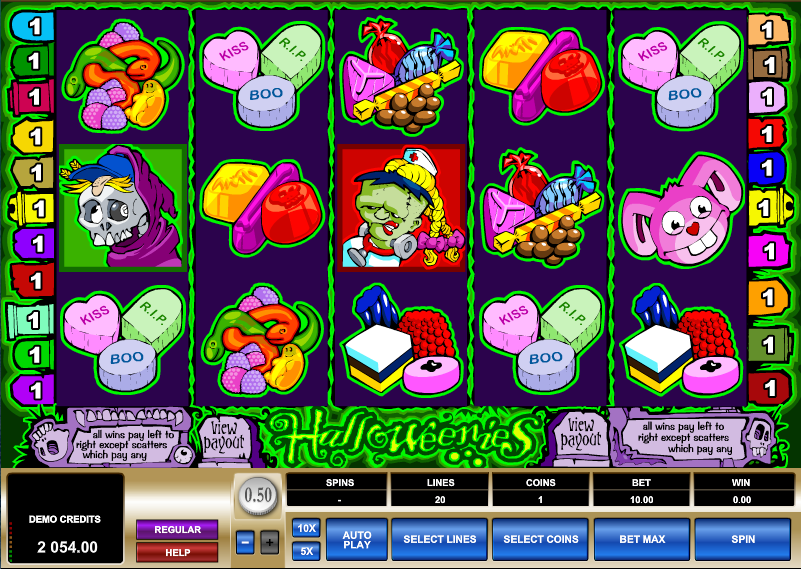 Halloweenies Pokies Game