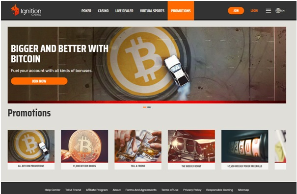 Ignition casino BTC
