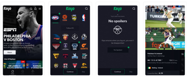 Kayo sports app Australia