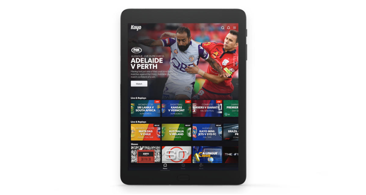 Kayo sports on Android