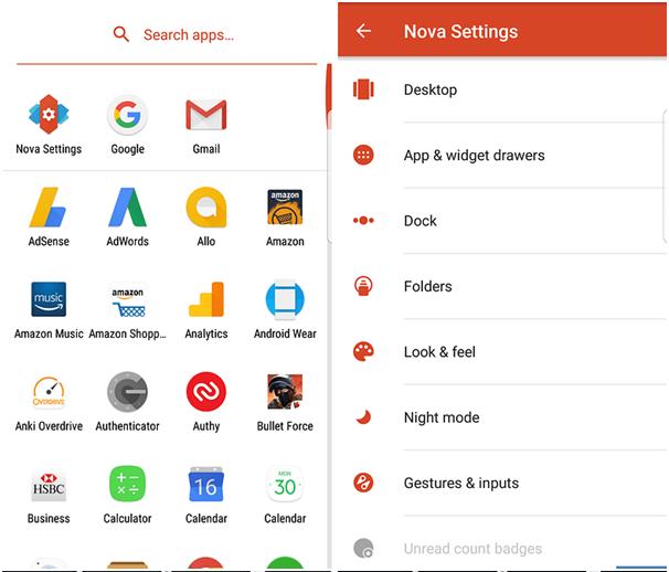 Nova Launcher app