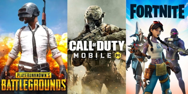 PUBG Mobile, Fortnite, Call of Duty Mobile
