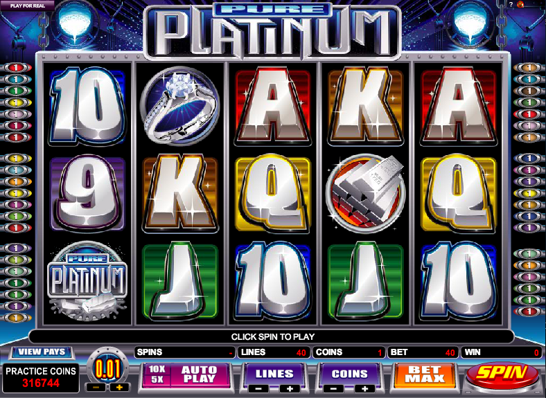 Pure Platinum Pokies Game