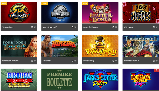 Royal Vegas Games on Mobile