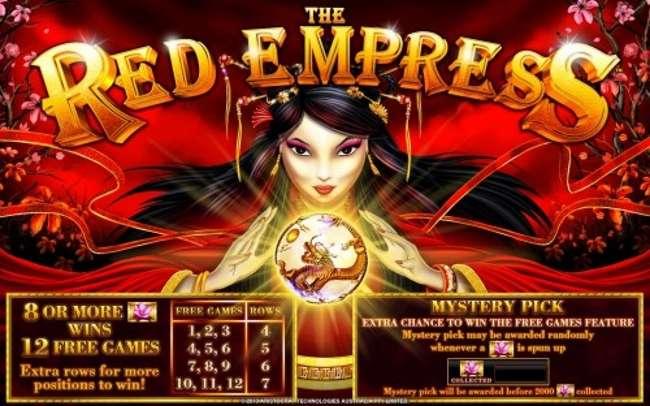 Red-Empress-Symbols-and-Bet-Range-1