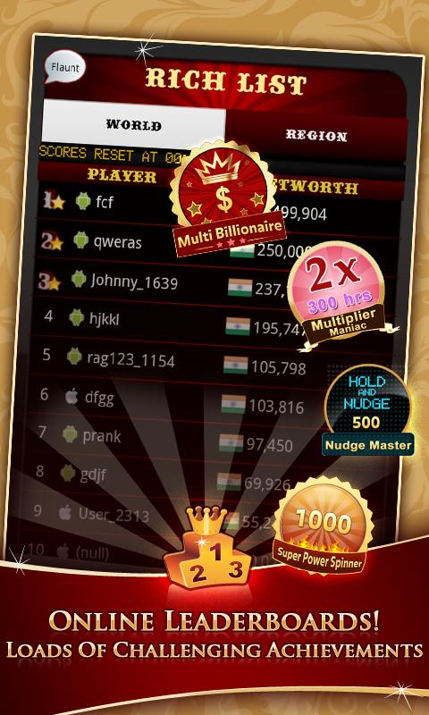 Slot Machine Leader Board