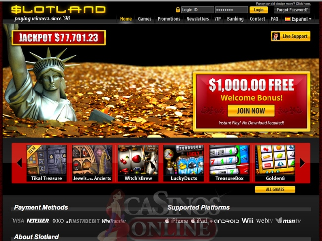 Slotland Casino App by Slotland Entertainment