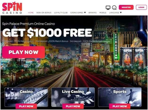 Spin Palace casino bonus
