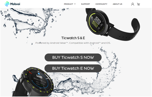 Android wear- Ticwatch for sports fans