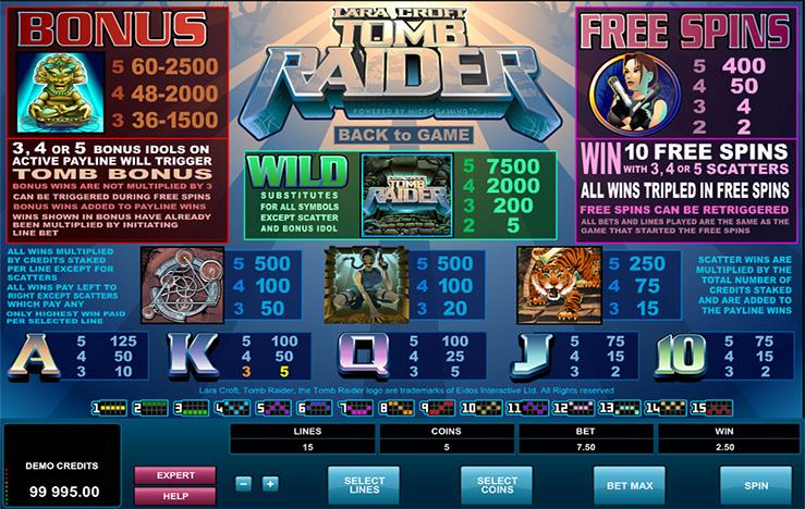 Tom Raider Bonus