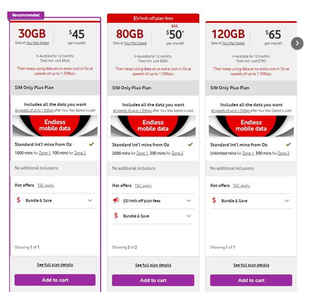 Vodafone mobile plans