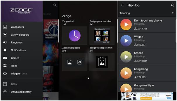Zedge app