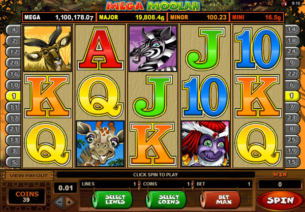 Mega Moolah Jackpot - Click to Play
