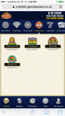 Spin Palace Casino HD for Mobile